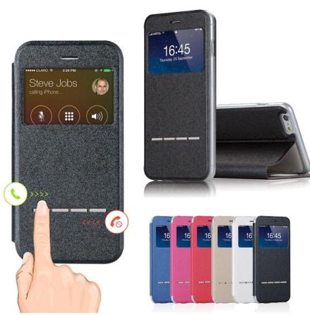 iPhone X/XS - Smartfodral med Fönster Svarsfunktion och Ställ