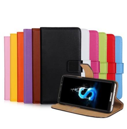 TOMKAS Plånboksfodral i Läder för Samsung Galaxy S5