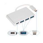 4 i 1 Type-C till 3-port USB plus 1 USB-C for Macbook