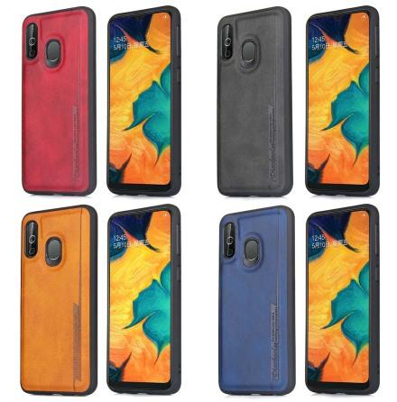 Samsung Galaxy A40 - Stötdämpande Pu-Läder Skal