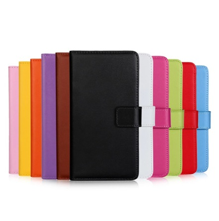 iPhone X/XS - Stilrent Plånboksfodral i Läder från TOMKAS
