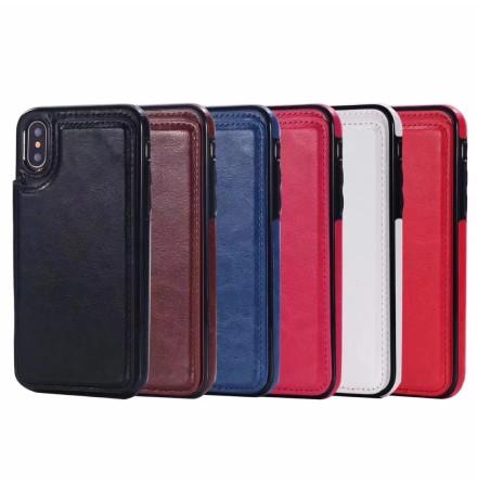 iPhone X/XS - NKOBEE Läderskal med Plånbok/Kortfack