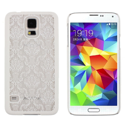 Samsung Galaxy S5 - Stilrent Retroskal VINTAGE FLOWER (VIT)