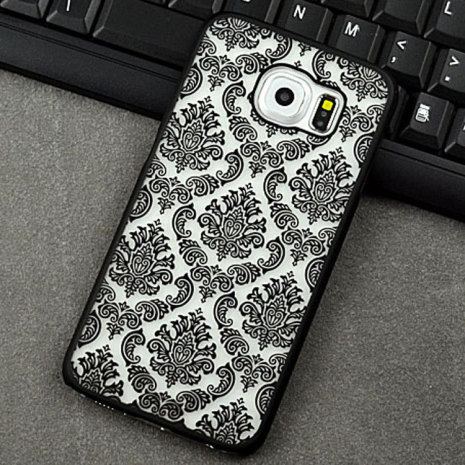 Samsung Galaxy S6 Edge+ - Stilrent Retroskal VINTAGE FLOWER