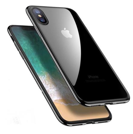 iPhone X - Exklusivt Praktiskt Silikonskal Från HUTECH