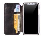 iPhone X/XS - Exklusivt och delvis handsytt fodral i Ko-läder (LEMAN)