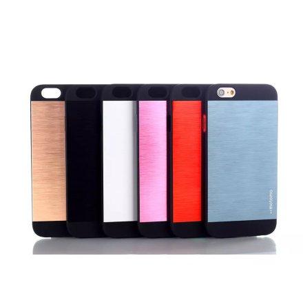 iPhone 6/6S - Stilrent Retroskal i Gummi/Borstad Aluminium