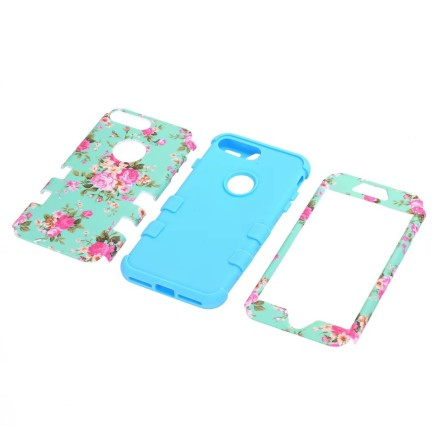 iPhone 6 - Elegant Fodral med Blommiga Mönster