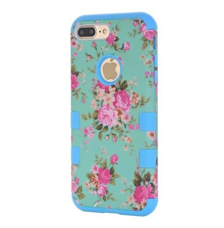 iPhone 7 - Elegant Skyddsskal med Blommiga Mönster