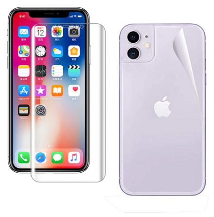 iPhone 11 Skärmskydd Fram- & Baksida 9H Nano-Soft HD-Clear