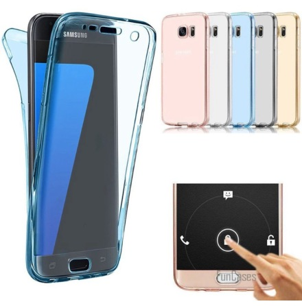 Samsung Galaxy J3 2017 Dubbelt Silikonfodral (TOUCHFUNKTION)