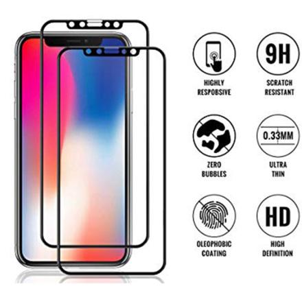 iPhone 11 Skärmskydd Carbon 9H Screen-Fit 3D/HD