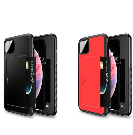 iPhone 11 - Praktiskt Stilrent Skal med Korthållare