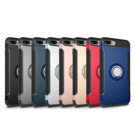 iPhone 8 - HYBRID Carbon skal med Ringhållare från FLOVEME