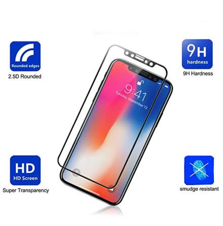 iPhone 11 Pro Max Skärmskydd Carbon 9H Screen-Fit 3D/HD HD-Clear