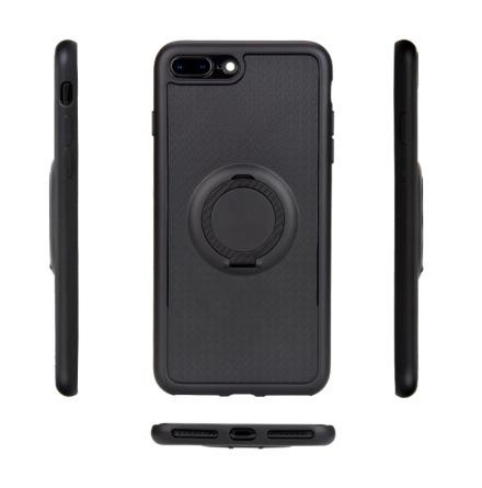 iPhone 8 - Carbon Silikonskal med Ringhållare FLOVEME