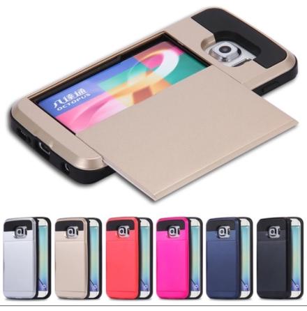 Samsung Galaxy S6 Edge - Skal med dolt kortfack
