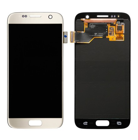 Samsung Galaxy S7 - LCD Display Skärm ORIGINAL (VIT)