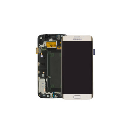 Samsung Galaxy S6 Edge - LCD Display Skärm ORIGINAL (GULD)