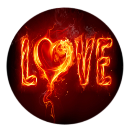 "Mobilhållare Pop-Stand ""Hot Love"" ( Popsockets-alternativ )"