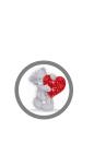"""Mobilhållare Pop-Stand """"Teddy-Heart"""" ( Popsockets-alternativ )"""