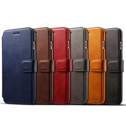 Klassiskt Plånboksfodral i Retrodesign (Läder) iPhone 8