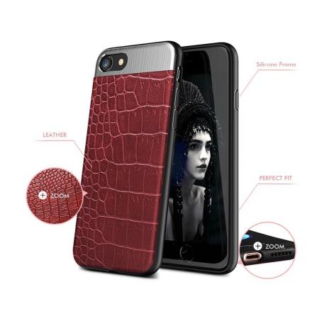 Stilrent Skal i Krokodil-design till iPhone 8 (Kisscase)