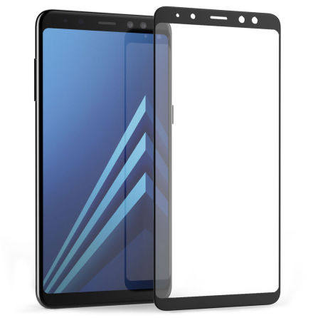 Samsung Galaxy A8 2018 - HeliGuard EXXO-Pansarglas med Ram (HD)