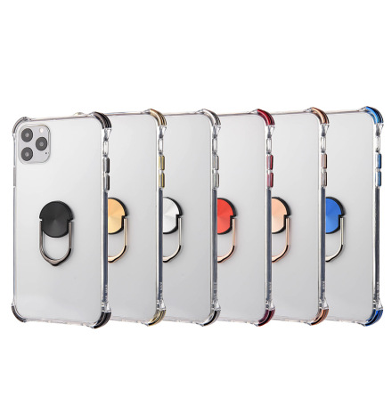 iPhone 11 Pro Max - Skyddande Praktiskt Skal med Ringhållare