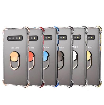 Samsung Galaxy S10 - Skyddande Praktiskt Skal med Ringhållare