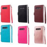 Samsung Galaxy S10 - Praktiskt 9-Kort Plånboksfodral LEMAN