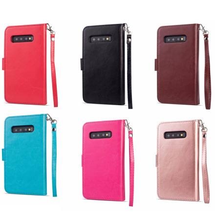 Samsung Galaxy S10E - Praktiskt 9-Korts Plånboksfodral (LEMAN)