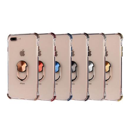 iPhone 8 Plus - Praktiskt Skyddande Skal med Ringhållare