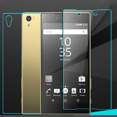 Sony Xperia Z5 PANSARGLAS - (Både framsida och baksida ingår)