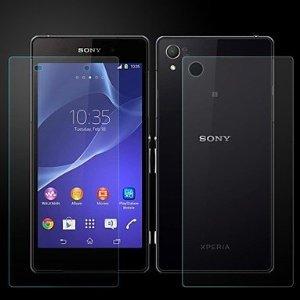 Sony Xperia Z2 - Skärmskydd (Både framsida och baksida ingår)