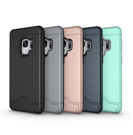 Skal med Kortfack från JENSEN - Samsung Galaxy S9
