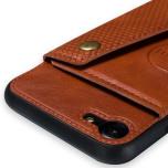 iPhone 8 - Smart Stilrent Retro Skal med Kortfack