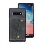 Samsung Galaxy S10 - RETRO Smart Skal med Kortfack