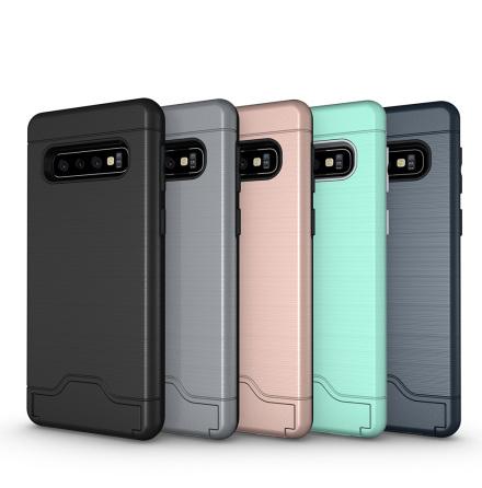Samsung Galaxy S10 - Praktiskt Skyddsskal med Kortfack (JENSEN)