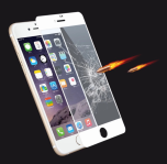 iPhone 6/6S Skärmskydd 2.5D Ram 9H HD-Clear Screen-Fit