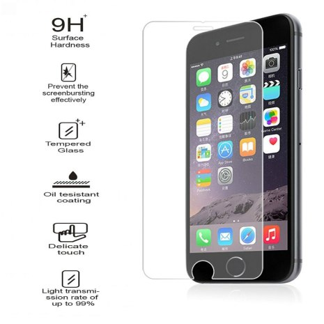 iPhone 6/6S Plus Skärmskydd 2.5D 9H HD-Clear Screen-Fit