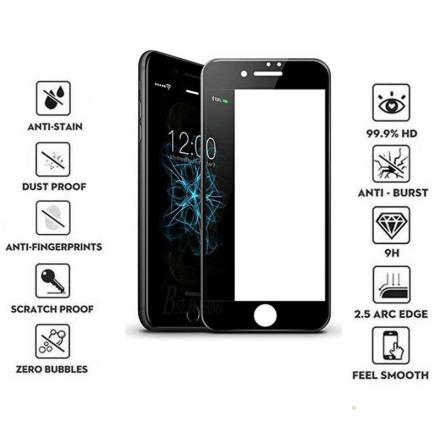 iPhone 8 Skärmskydd 3D 9H Ram 0,2mm HD-Clear