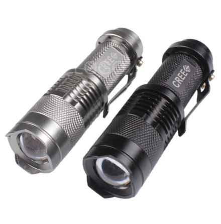 MINI CREE Q5 Ficklampa 1500 Lumens LED (WATERPROOF)