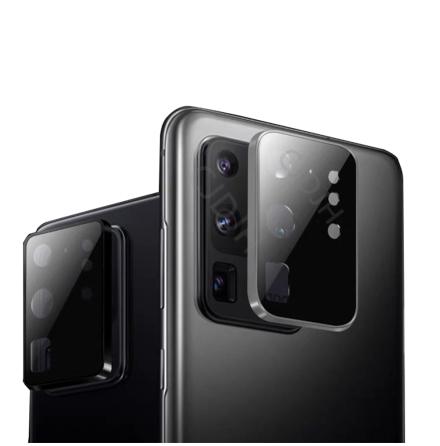 S20 Ultra Kameralinsskydd 9H Härdat glas + Titanlegeringsram