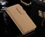 Samsung Galaxy S6 Edge - Praktiskt Plånboksfodral i Mockadesign