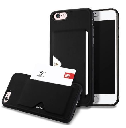 DUX DUCIS - Stilrent Skal med Kortfack - iPhone SE 2020
