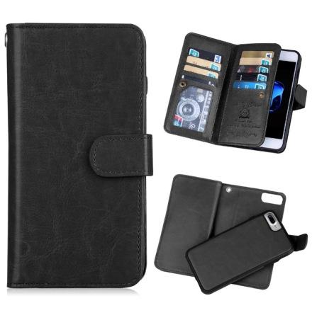 Praktiskt 9-korts Plånboksfodral för iPhone SE 2020 från FLOVEME