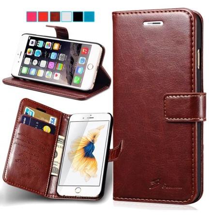 iPhone 6/6S - Stilrent Plånboksfodral från LEMAN