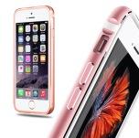 iPhone 6/6S - Stilren Bumper i Aluminium och Silikon