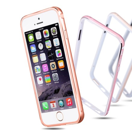 iPhone 6/6S Plus - Stilren Bumper i Aluminium och Silikon